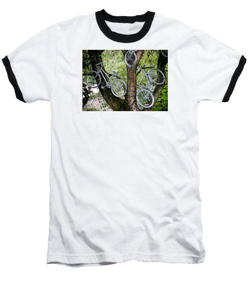 Bikes In A Tree Baseball T-Shirt