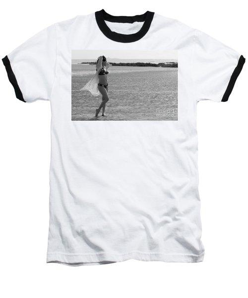 Bikini Girl Baseball T-Shirt