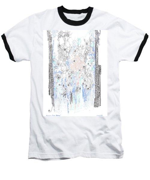 Bingham Fluid Or Paste Baseball T-Shirt by Regina Valluzzi