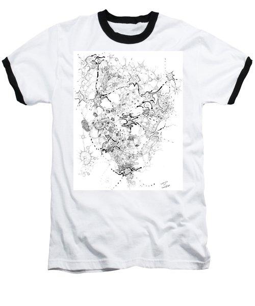 Biology Of An Idea Baseball T-Shirt by Regina Valluzzi