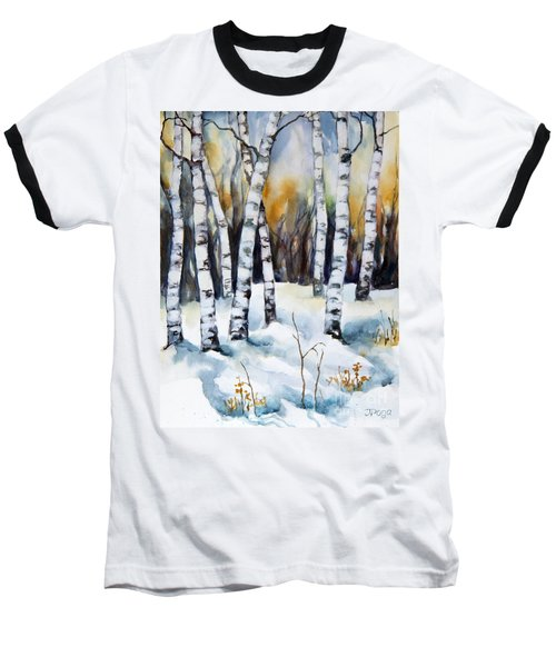 The White Of Winter Birch Baseball T-Shirt
