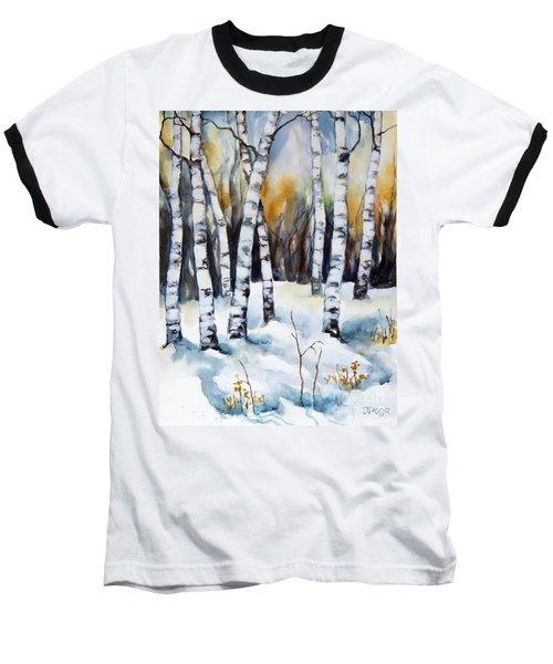 The White Of Winter Birch Baseball T-Shirt