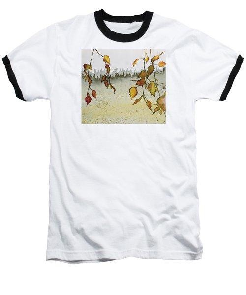 Birch In Autumn Baseball T-Shirt by Carolyn Doe