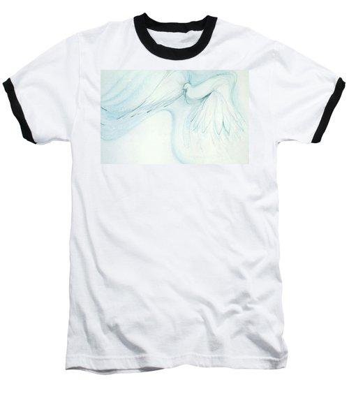 Bird In Flight Baseball T-Shirt by Denise Fulmer
