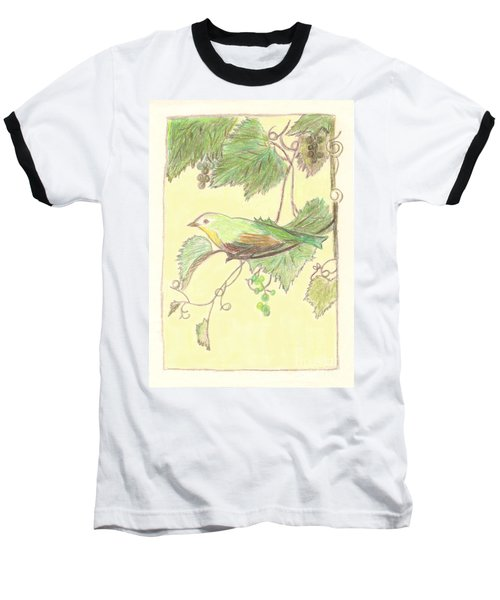 Bird On A Branch Baseball T-Shirt