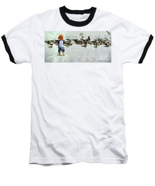 Bird Play Baseball T-Shirt
