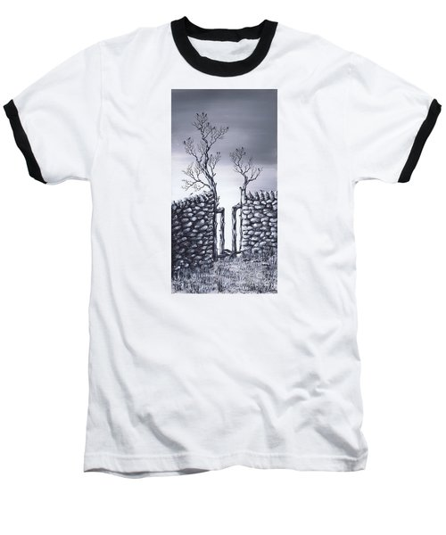 Bird Tree Baseball T-Shirt by Kenneth Clarke