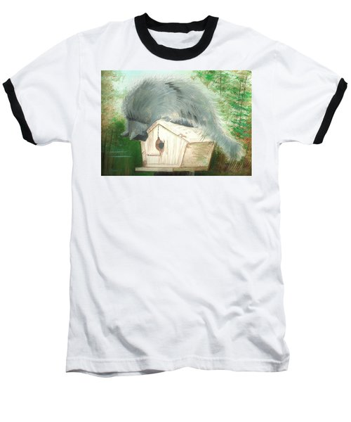 Birdie In The Hole Baseball T-Shirt