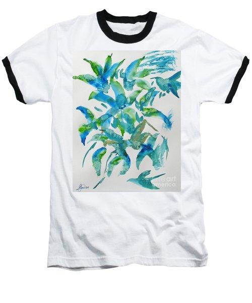Birds And Blooms Baseball T-Shirt