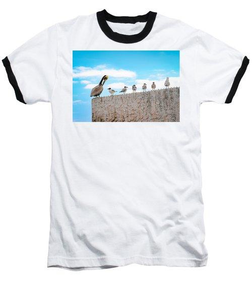 Birds Catching Up On News Baseball T-Shirt