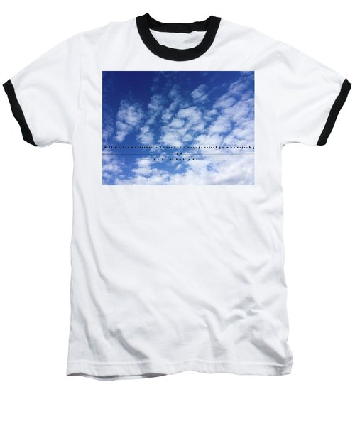 Birds On Wire Baseball T-Shirt