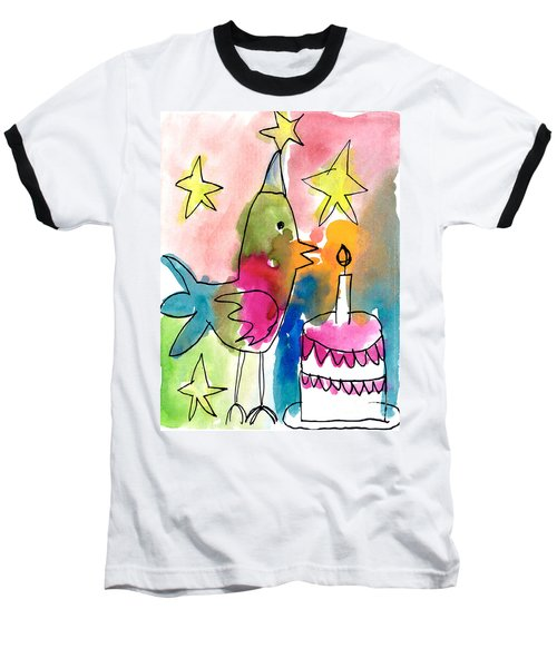 Birthday Bird Baseball T-Shirt