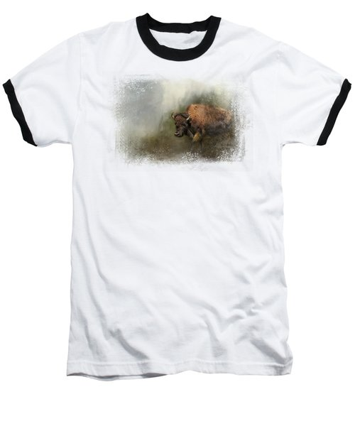 Bison After The Mud Bath Baseball T-Shirt