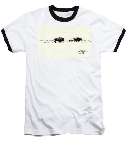 Bison Family Baseball T-Shirt