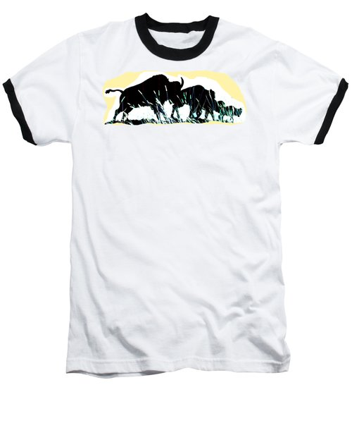 Bison Prairie Run Baseball T-Shirt