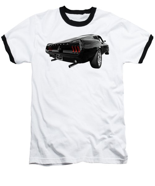 Black 1967 Mustang Baseball T-Shirt by Gill Billington