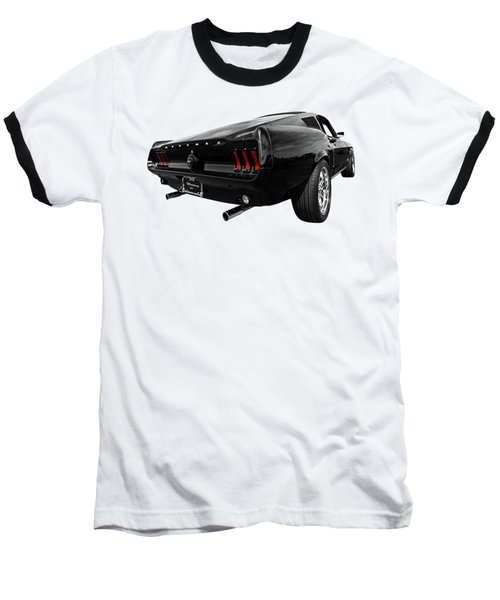 Black 1967 Mustang Baseball T-Shirt