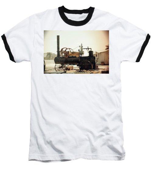 Black And Glorious Steam Machine Baseball T-Shirt