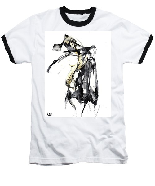 Black And White Abstract Expressionism Series 7344.072009 Baseball T-Shirt by Kris Haas