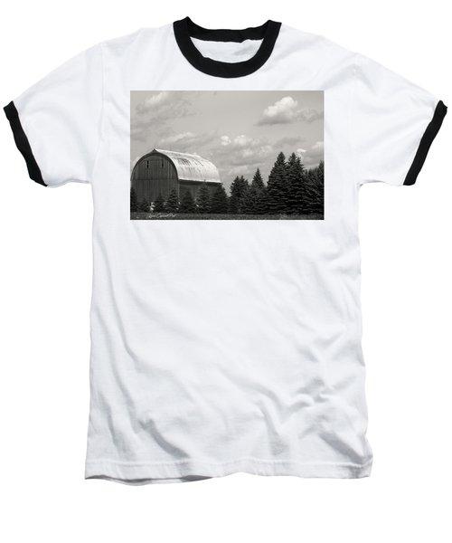 Black And White Barn Baseball T-Shirt