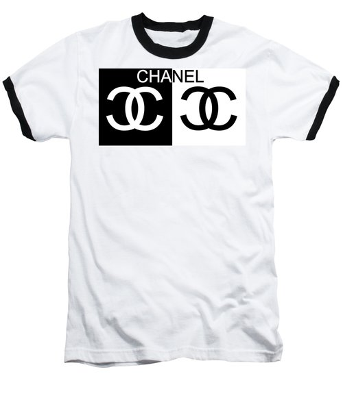 Black And White Chanel 2 Baseball T-Shirt