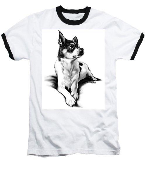 Black And White Chihuahua By Spano Baseball T-Shirt