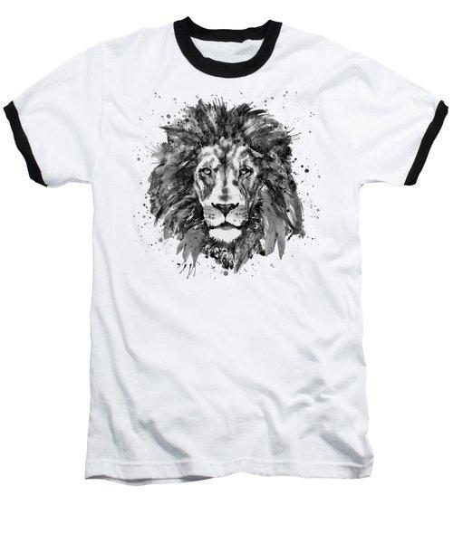 Black And White Lion Head  Baseball T-Shirt
