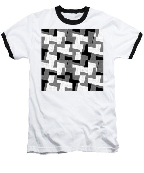 Black And White Study Baseball T-Shirt