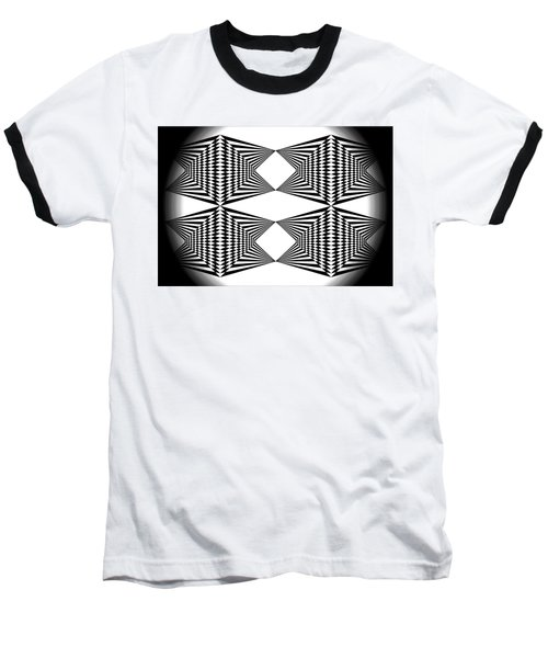 Black And White T-shirt Baseball T-Shirt