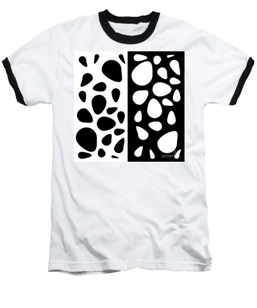 Black And White Teardrops Baseball T-Shirt