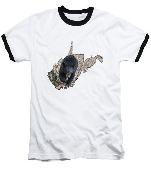 Black Bear Coming Close Baseball T-Shirt
