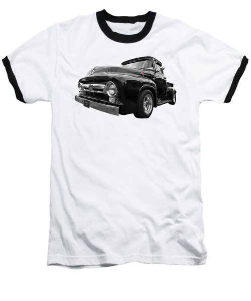 Baseball T-Shirt featuring the photograph Black Beauty - 1956 Ford F100 by Gill Billington