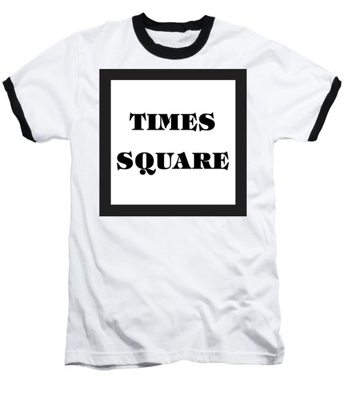 Black Border Times Square Baseball T-Shirt