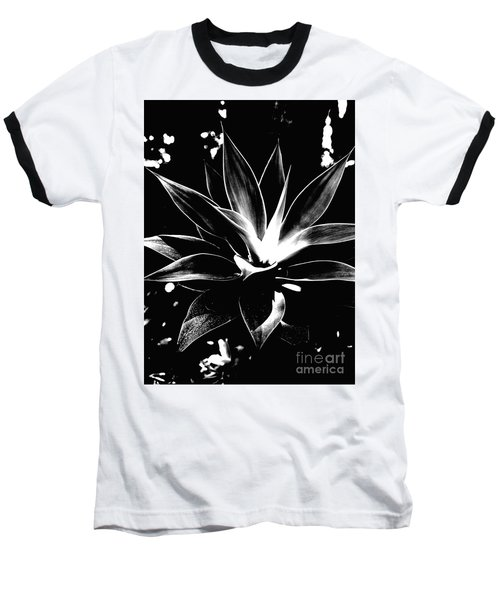 Black Cactus  Baseball T-Shirt by Rebecca Harman