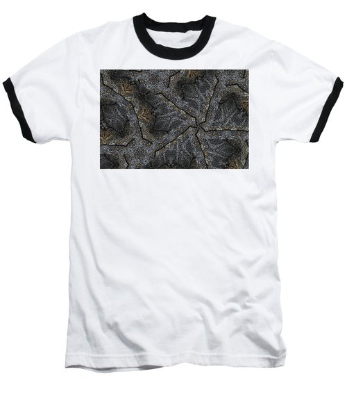 Baseball T-Shirt featuring the photograph Black Granite Kaleido #1 by Peter J Sucy