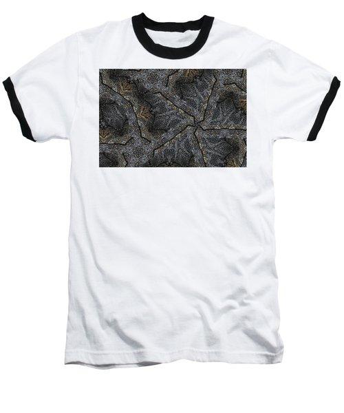 Black Granite Kaleido #1 Baseball T-Shirt by Peter J Sucy