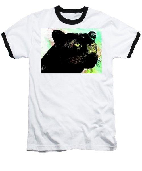 Black Panther Animal Art Baseball T-Shirt