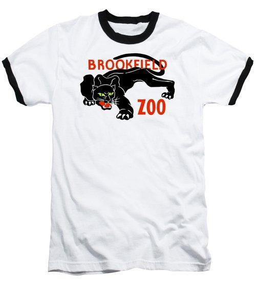 Black Panther Brookfield Zoo Ad Baseball T-Shirt