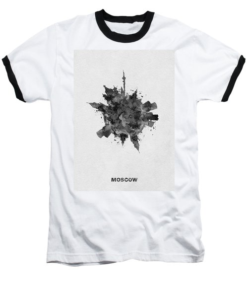 Black Skyround Art Of Moscow, Russia Baseball T-Shirt