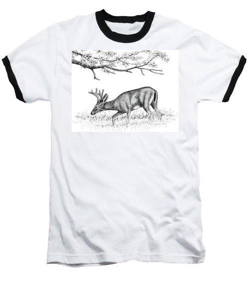Black Tail In Velvet Baseball T-Shirt