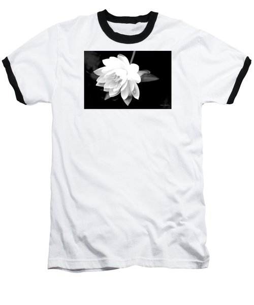 Black/white Lotus Baseball T-Shirt