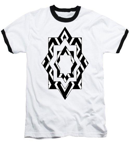 Black White Pattern Art Baseball T-Shirt