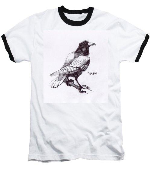 Sketch For Black  Baseball T-Shirt