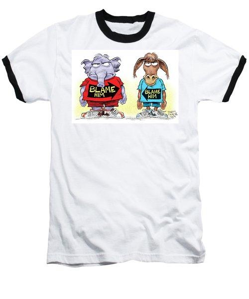 Blame Him Baseball T-Shirt
