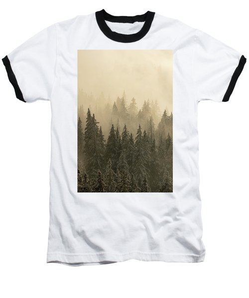 Baseball T-Shirt featuring the photograph Blanket Of Back-lit Fog by Dustin LeFevre