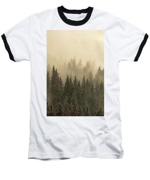 Blanket Of Back-lit Fog Baseball T-Shirt by Dustin LeFevre