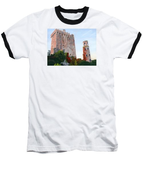 Baseball T-Shirt featuring the painting Blarney Castle by Lynne Reichhart