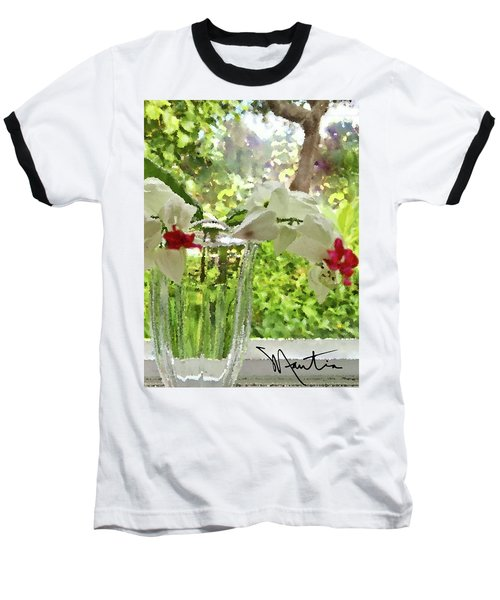 Bleeding Hearts Painted Rocks Baseball T-Shirt