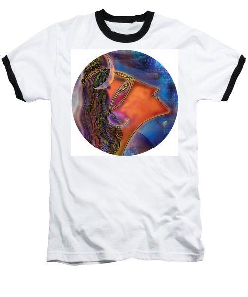 Baseball T-Shirt featuring the painting Bliss Shiva by Guruji Aruneshvar Paris Art Curator Katrin Suter