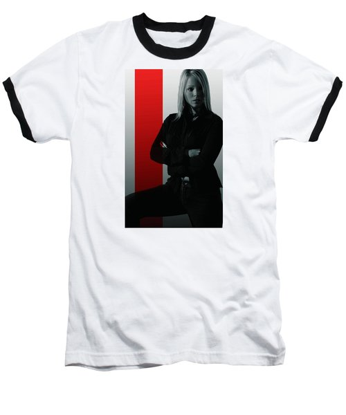 Baseball T-Shirt featuring the photograph Blonde With Attitude by Bob Pardue